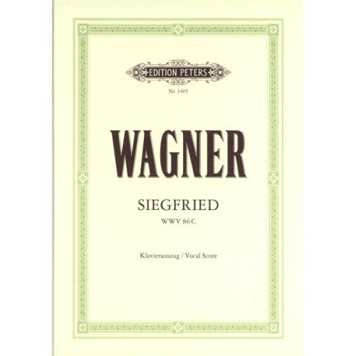 EDITION PETERS WAGNER RICHARD - SIEGFRIED - VOICE AND PIANO (PER 10 MINIMUM)