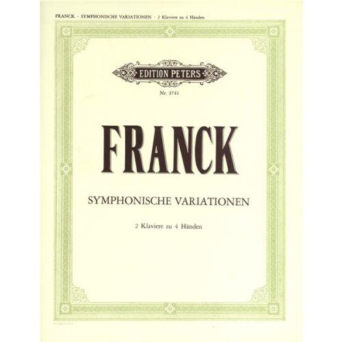EDITION PETERS FRANCK CÉSAR - SYMPHONIC VARIATIONS - PIANO 4 HANDS