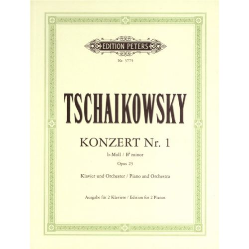 EDITION PETERS TCHAIKOVSKY PYOTR ILYICH - CONCERTO NO.1 IN B FLAT MINOR OP.23 - PIANO 4 HANDS