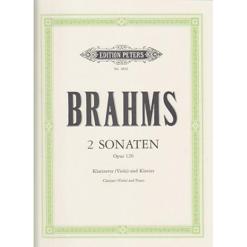 EDITION PETERS BRAHMS J. - 2 SONATAS OP.120 - CLARINETTE OU ALTO, PIANO