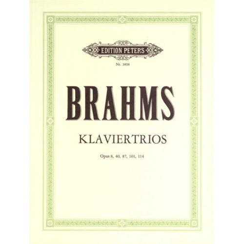 EDITION PETERS BRAHMS JOHANNES - TRIOS, COMPLETE - PIANO TRIOS