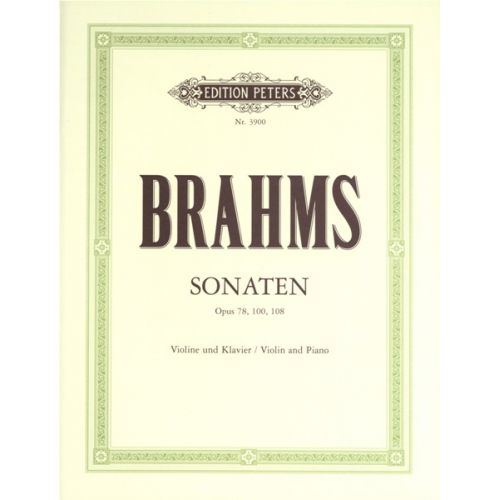 EDITION PETERS BRAHMS JOHANNES - SONATAS, COMPLETE - VIOLIN AND PIANO