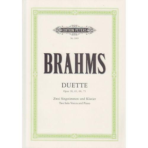EDITION PETERS BRAHMS JOHANNES - BRAHMS - DUETTE OP.20.61.66.75 (PER 10 MINIMUM)