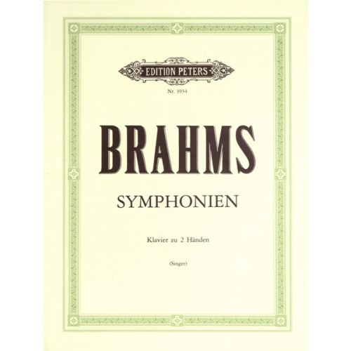 EDITION PETERS BRAHMS JOHANNES - 4 SYMPHONIES - PIANO