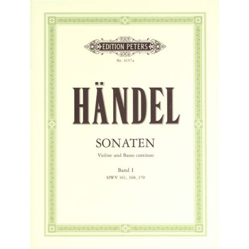 EDITION PETERS HANDEL GEORGE FRIEDERICH - SONATAS VOL.1 - VIOLIN AND PIANO
