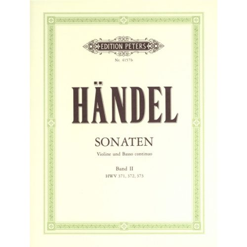 EDITION PETERS HANDEL GEORGE FRIEDERICH - SONATAS VOL.2 - VIOLIN AND PIANO