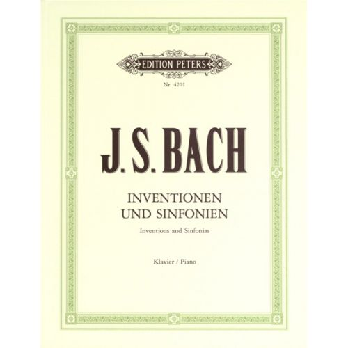EDITION PETERS BACH JOHANN SEBASTIAN - INVENTIONS & SINFONIAS (2 & 3-PART INVENTIONS) BWV 772-801 - PIANO