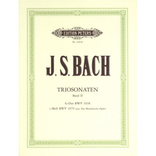 EDITION PETERS BACH JOHANN SEBASTIAN - TRIO SONATAS VOL.2 - FLUTE(S) AND OTHER INSTRUMENTS