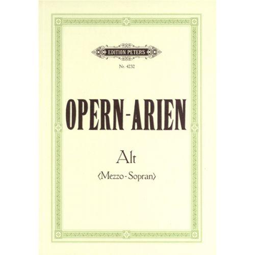 EDITION PETERS OPERA ARIAS FOR CONTRALTO/MEZZO-SOPRANO - VOICE AND PIANO (PER 10 MINIMUM)