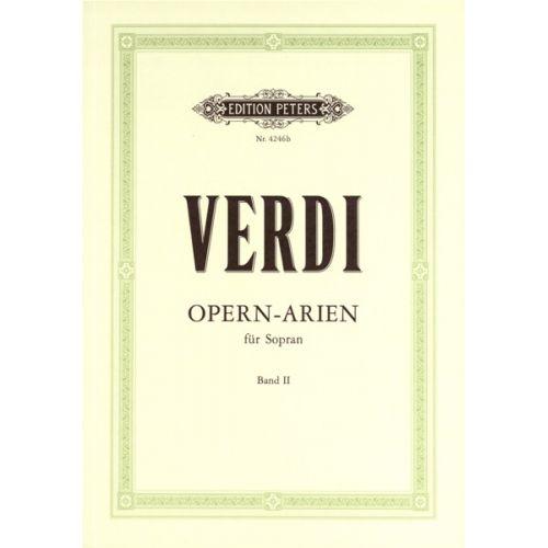 EDITION PETERS VERDI GIUSEPPE - 30 SOPRANO ARIAS VOL.2 - VOICE AND PIANO (PAR 10 MINIMUM)