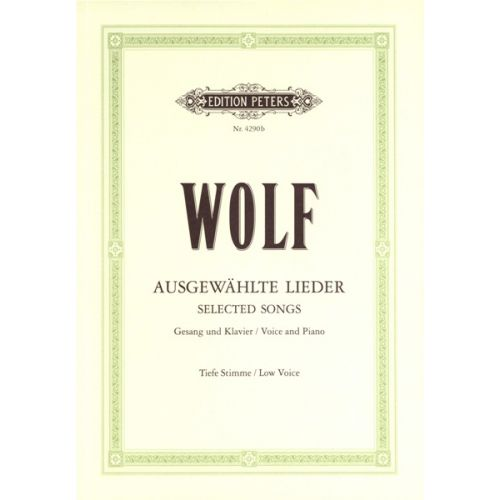 EDITION PETERS WOLF HUGO - 51 SELECTED SONGS - VOICE AND PIANO (PAR 10 MINIMUM)