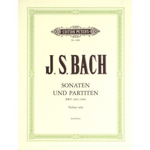 EDITION PETERS BACH JOHANN SEBASTIAN - THE 6 SOLO SONATAS AND PARTITAS BWV 1001-1006 - VIOLIN