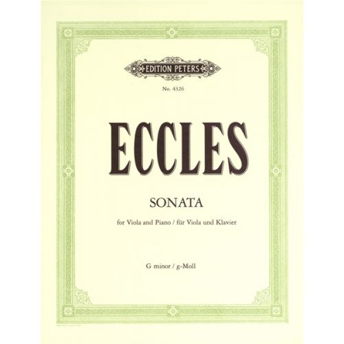 EDITION PETERS ECCLES HENRY - SONATA IN G MINOR - VIOLA AND PIANO