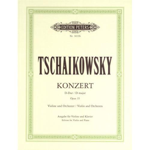EDITION PETERS TCHAIKOVSKY PYOTR ILYICH - SÉRÉNADE MÉLANCOLIQUE OP.26 - VIOLIN AND PIANO