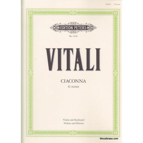EDITION PETERS VITALI TOMASO - CHACONNE EN SOL MINEUR (JACOBSEN)