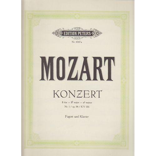 EDITION PETERS MOZART W. A - KONZERT B DUR N°1 OP.96 KV 191