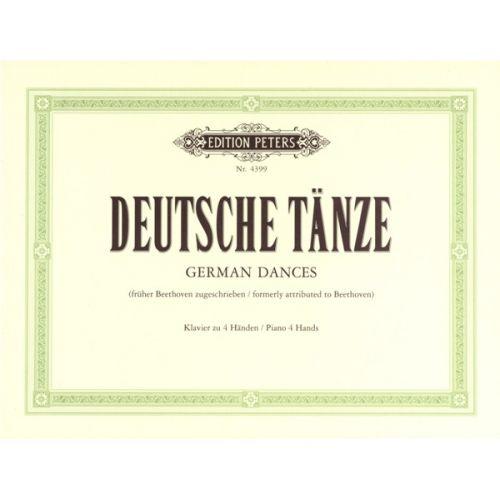 EDITION PETERS BEETHOVEN LUDWIG VAN - GERMAN DANCES - PIANO 4 HANDS