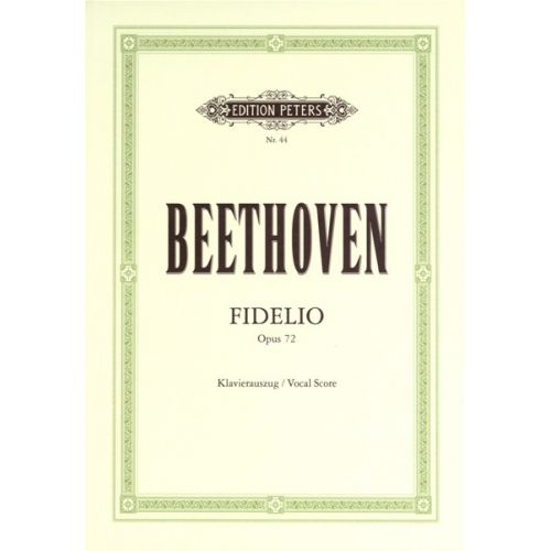 EDITION PETERS BEETHOVEN LUDWIG VAN - FIDELIO - VOICE AND PIANO (PER 10 MINIMUM)