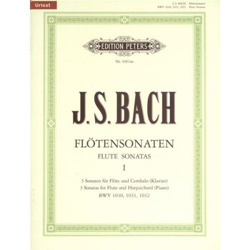 EDITION PETERS BACH J.S. - FLUTE SONATAS VOL.1 BWV1030-1032 - FLUTE