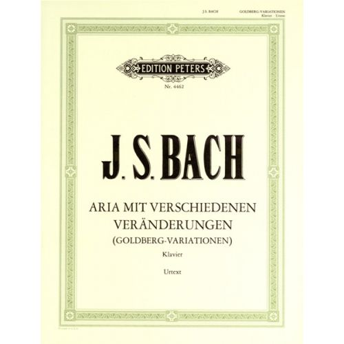 EDITION PETERS BACH JOHANN SEBASTIAN - GOLDBERG VARIATIONS BWV 988 - PIANO