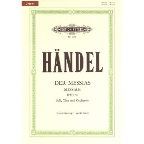 EDITION PETERS HANDEL GEORGE FRIEDERICH - MESSIAH - MIXED CHOIR (PER 10 MINIMUM)