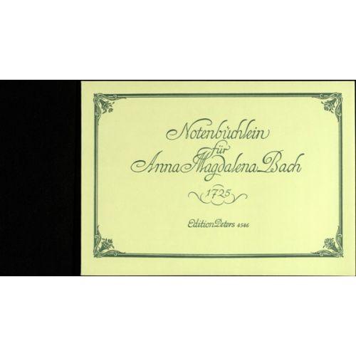 EDITION PETERS BACH JOHANN SEBASTIAN - ANNA MAGDALENA'S NOTEBOOK - PIANO