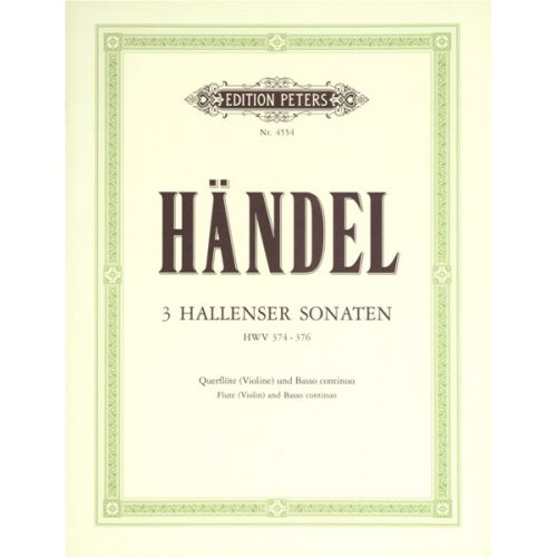 EDITION PETERS HANDEL GEORGE FRIEDERICH - FLUTE SONATAS, COMPLETE IN 3 VOLUMES, VOL.1 - FLUTE AND PIANO