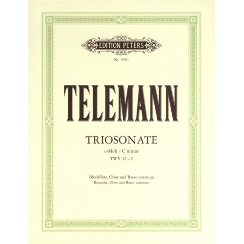 EDITION PETERS TELEMANN GEORG PHILIPP - TRIO SONATA IN C MINOR - FLUTE(S) AND OTHER INSTRUMENTS
