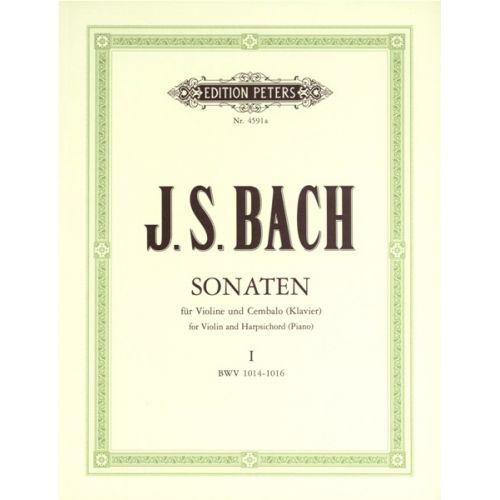 EDITION PETERS BACH JOHANN SEBASTIAN - 6 SONATAS BWV 1014-1019 VOL.1 - VIOLIN AND PIANO