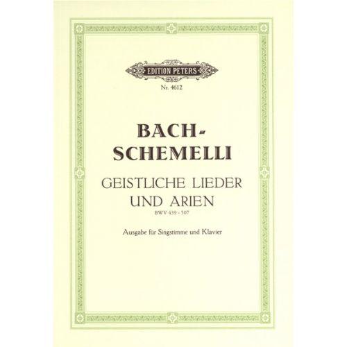 EDITION PETERS BACH JOHANN SEBASTIAN - 69 SACRED SONGS AND ARIAS - VOCAL SCORE (PAR 10 MINIMUM)