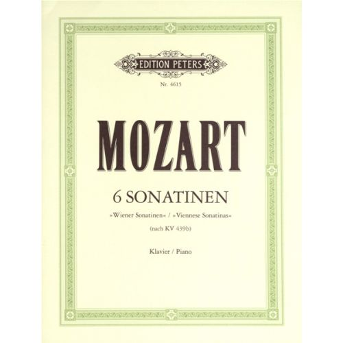 EDITION PETERS MOZART WOLFGANG AMADEUS - 6 VIENNESE SONATINAS - PIANO