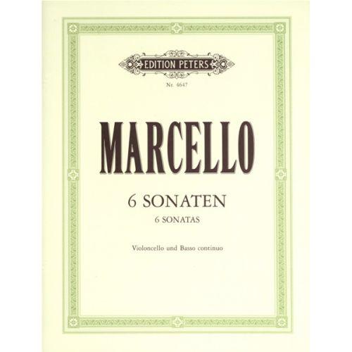 EDITION PETERS MARCELLO BENEDETTO - 6 SONATAS OP.2 - CELLO ENSEMBLE