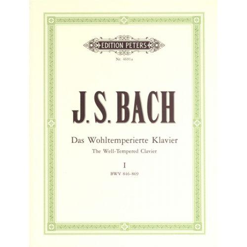 EDITION PETERS BACH JOHANN SEBASTIAN - 48 PRELUDES & FUGUES VOL.1 - PIANO