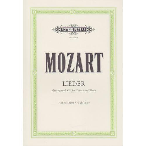 EDITION PETERS MOZART W.A. - LIEDER - VOIX HAUTE/PIANO