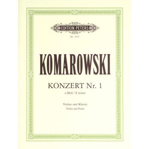 EDITION PETERS KOMAROVSKY - CONCERTO NO.1 E MINOR - VIOLIN AND PIANO