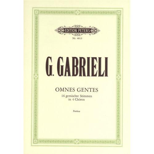 EDITION PETERS GABRIELI GIOVANNI - OMNES GENTES - MIXED CHOIR (PAR 10 MINIMUM)