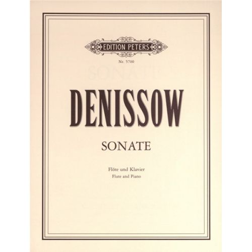 EDITION PETERS DENISSOV EDISON - SONATA - FLUTE AND PIANO