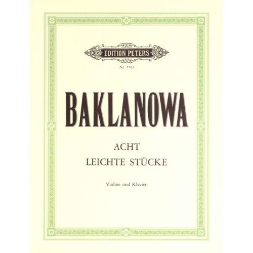 EDITION PETERS BAKLANOWA NATALJA - EIGHT EASY PIECES - VIOLIN AND PIANO