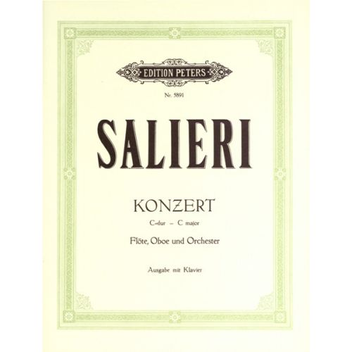 EDITION PETERS SALIERI G - CONCERTO - FLUTE AND OBOE