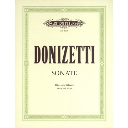 EDITION PETERS DONIZETTI GAETANO - OBOE SONATA IN F (CONCERTINO) - OBOE AND PIANO