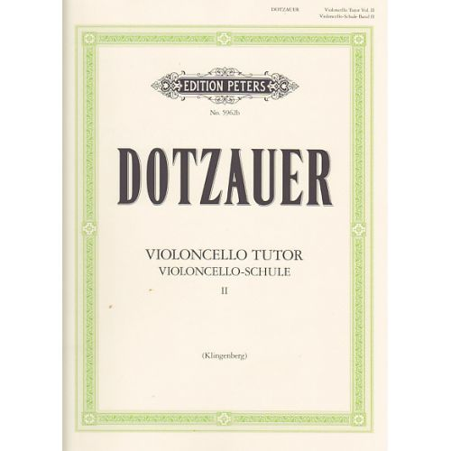 EDITION PETERS DOTZAUER - VIOLONCELLO TUTOR VOL.2