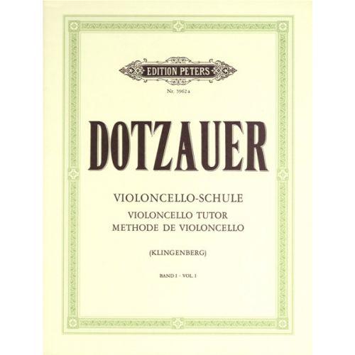 EDITION PETERS DOTZAUER FRIEDRICH - VIOLONCELLO TUTOR VOL.1 - CELLO