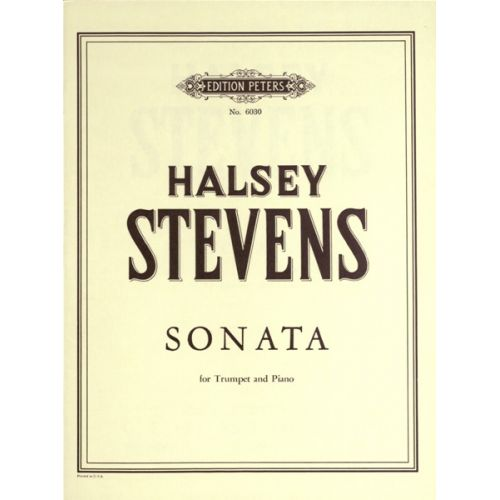 EDITION PETERS STEVENS HALSEY - SONATA - TRUMPET AND PIANO