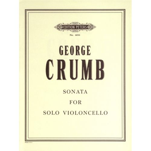 EDITION PETERS CRUMB GEORGE - SONATA - CELLO