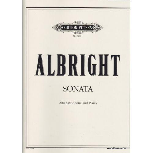 EDITION PETERS ALBRIGHT WILLIAM - SONATA - ALTO SAX AND PIANO