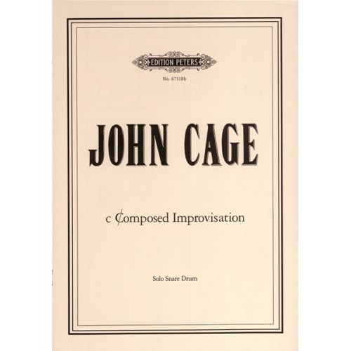EDITION PETERS CAGE JOHN - CCOMPOSED IMPROVISATIONS NO. 2 - PERCUSSION
