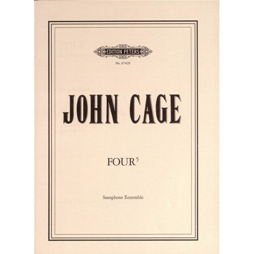 EDITION PETERS CAGE JOHN - FOUR5 - SAXOPHONE