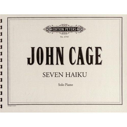 EDITION PETERS CAGE JOHN - SEVEN HAIKU - PIANO