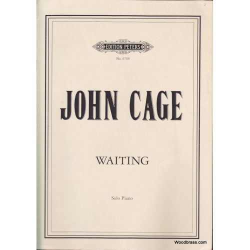 EDITION PETERS CAGE JOHN - WAITING - PIANO