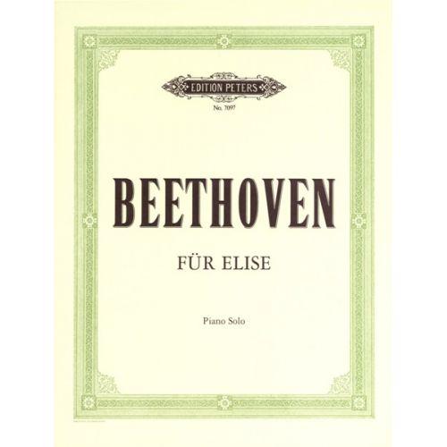 EDITION PETERS BEETHOVEN LUDWIG VAN - BAGATELLE 'FÜR ELISE' WOO 59 - PIANO